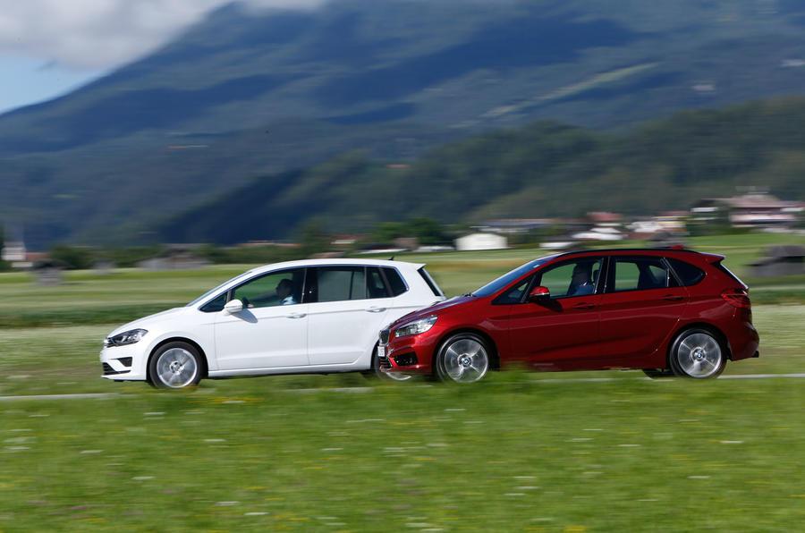 Comparison - BMW 2-series Active Tourer vs VW Golf SV
