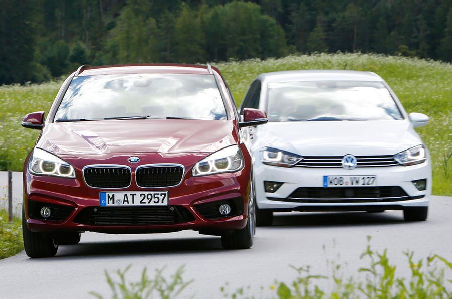 Volkswagen Golf Sv >> Comparison - BMW 2-series Active Tourer vs VW Golf SV