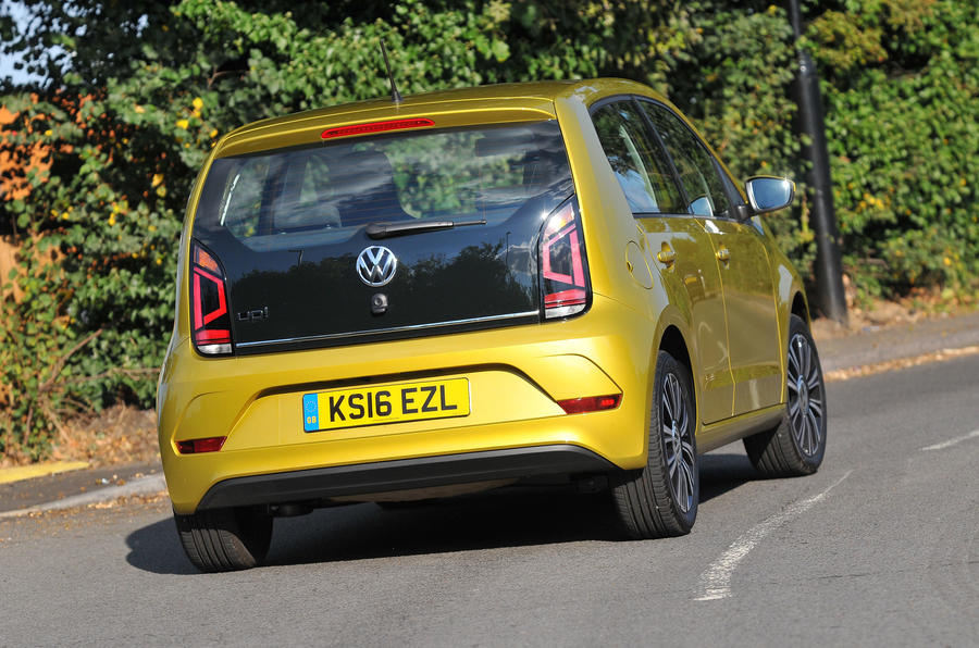 Volkswagen Up rear hard cornering