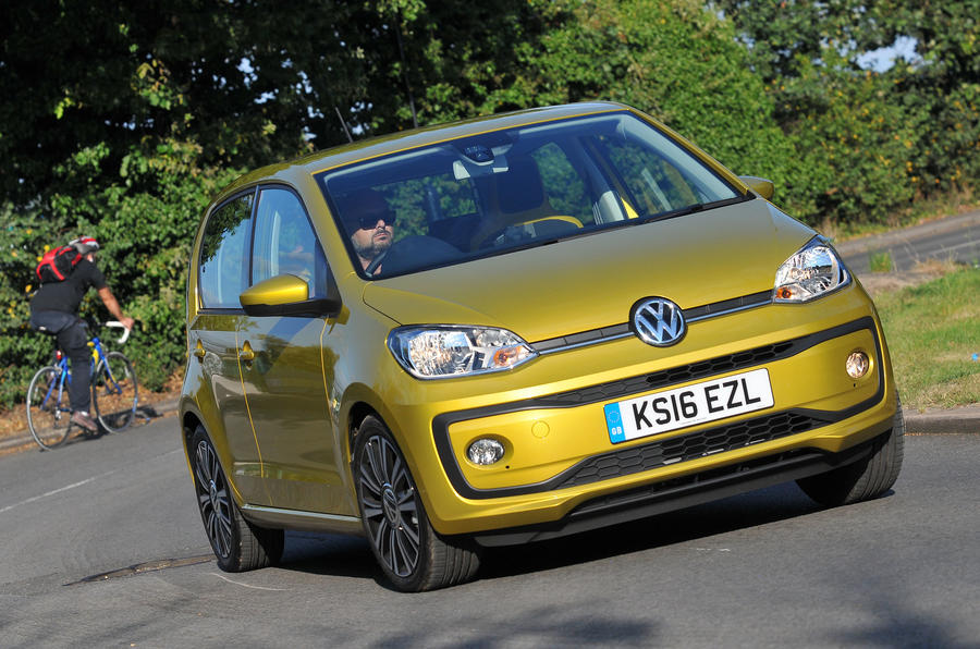 Volkswagen Up hard cornering