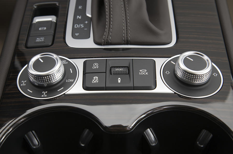 Volkswagen Touareg off-road controls