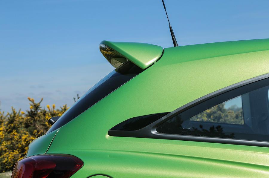 Vauxhall Corsa VXR rear spoiler