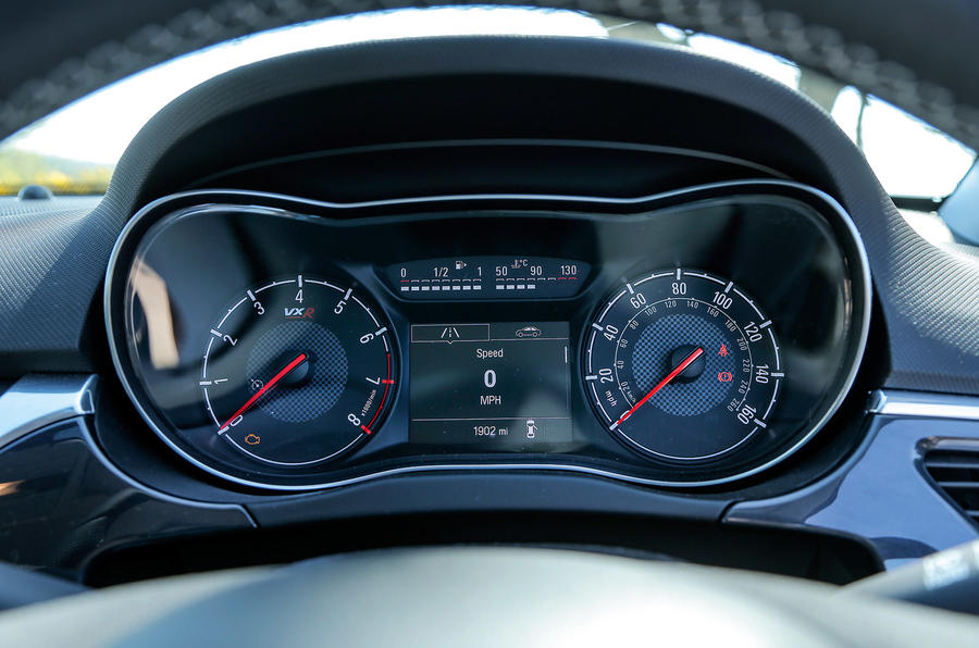 Vauxhall Corsa VXR instrument cluster