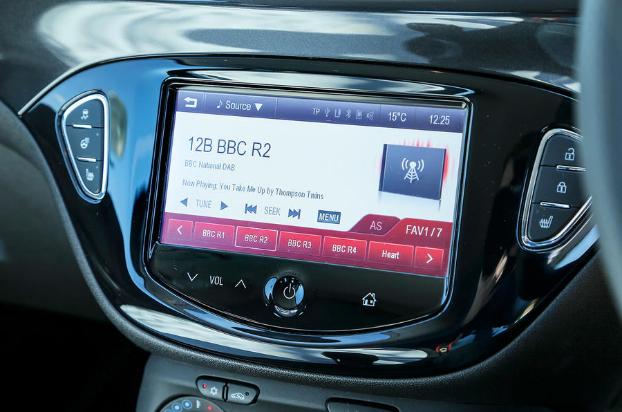 Vauxhall Corsa VXR infotainment system