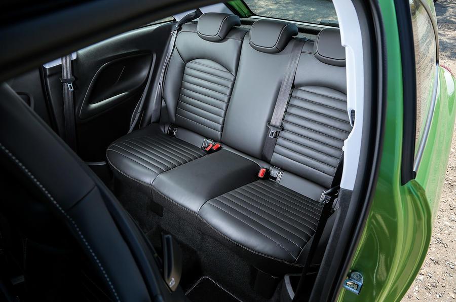 Vauxhall Corsa VXR rear seats