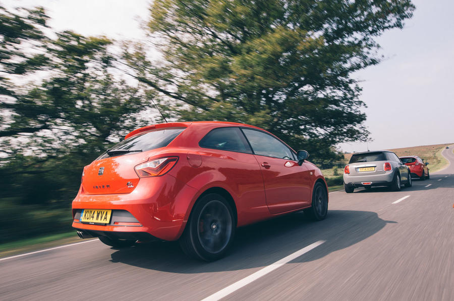 Comparison: Ford Fiesta Red Edition versus Mini Cooper and Seat Ibiza FR