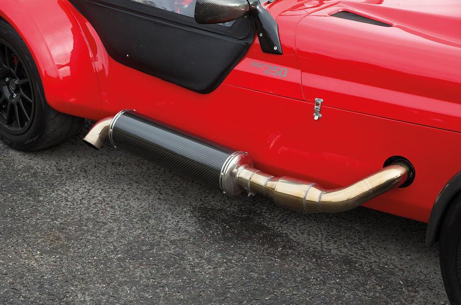 Westfield Sport 250 exhaust system