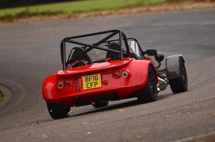 Westfield Sport 250 rear cornering