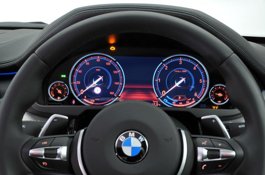 BMW X6 instrument cluster