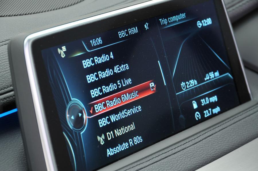 BMW X6 iDrive screen