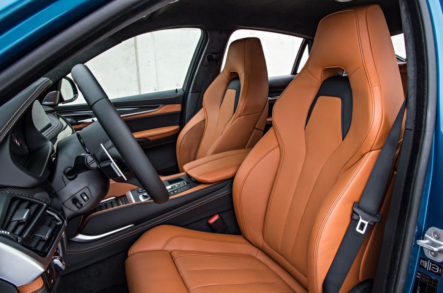 BMW X6 M's front seats