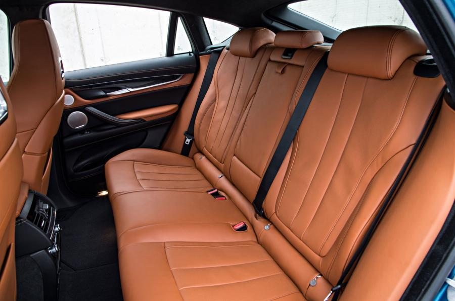 BMW X6 M's rear seats