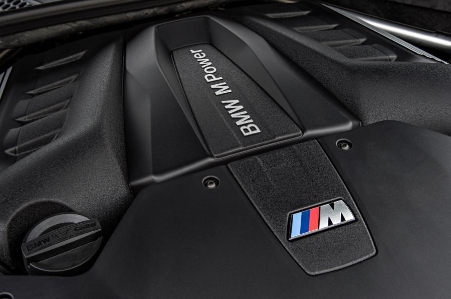 BMW X6 M's twin-turbo V8