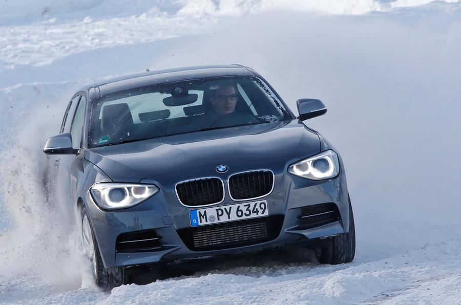 BMW M135i xDrive on snow