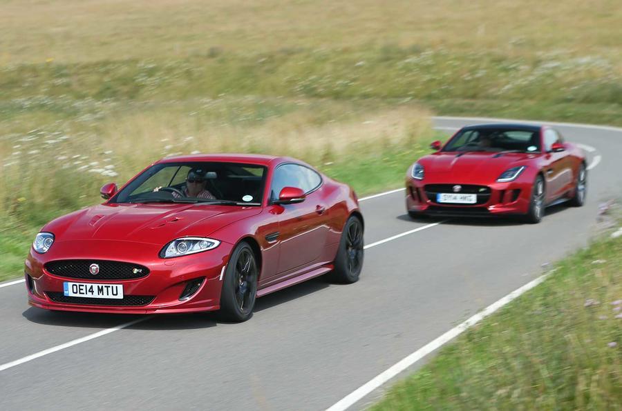 Comparison: Jaguar XK Dynamic R versus Jaguar F-type R coupe (ROUGH)