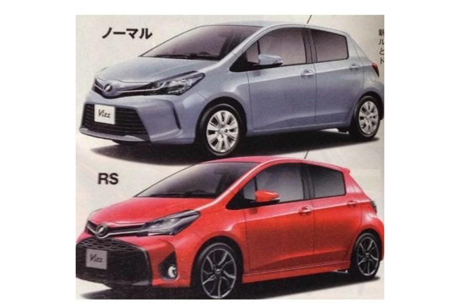Facelifted Toyota Yaris pictures leaked online