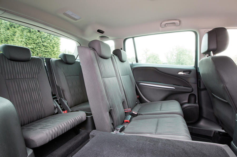 Vauxhall Zafira Tourer third row seats