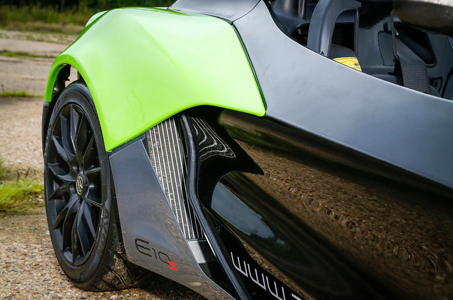 Zenos E10 S side air intakes