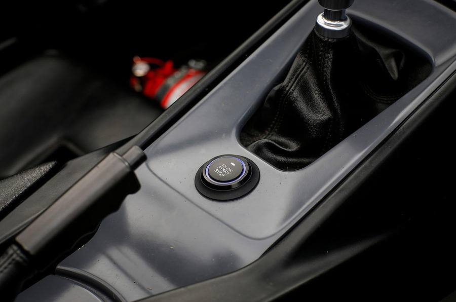 Zenos E10 S ignition button