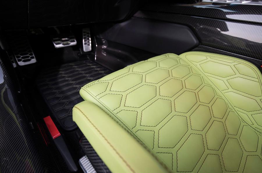 Zenvo TS1 GT hexagonal print leather seats
