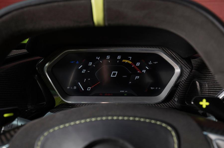Zenvo TS1 GT instrument cluster