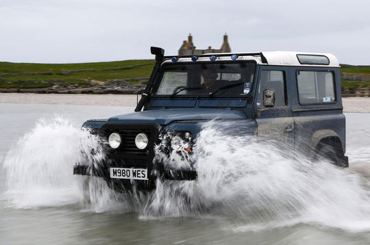 Video: Land Rover Defender takes on the Atlantic ocean