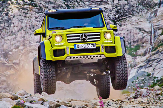 Extreme Mercedes-Benz G500 4x4² revealed