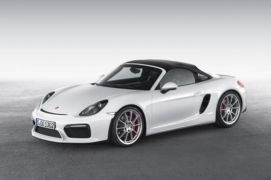 Lightweight Porsche Boxster Spyder is most powerful version yet