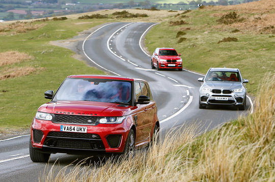 Range Rover Sport SVR vs. BMW X5 M and Alpina XD3 Biturbo