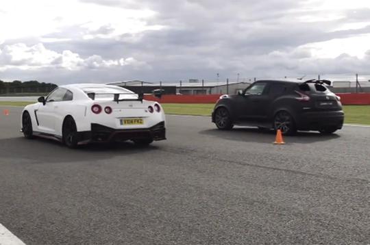 Video: Nissan GT-R Nismo versus Juke-R 2.0 drag race