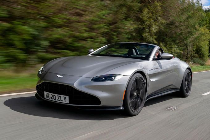 Aston Martin Vantage Roadster 2020 UK first drive review - hero front