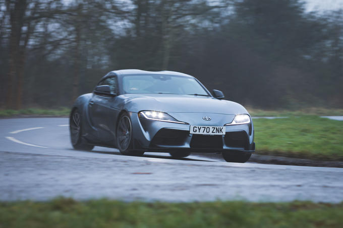 1 Toyota GR Supra 2 litre 2021 UK first drive review hero front