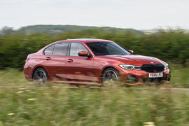 BMW 3 Series 330e 2020 road test review - hero front