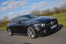 Mercedes-Benz CLS 400d 2018 review hero front