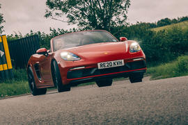 Porsche 718 Boxster GTS 4.0 2020 UK first drive review - hero front