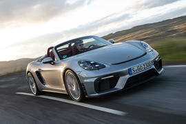 Porsche 718 Boxster Spyder 2019 first drive review - hero front