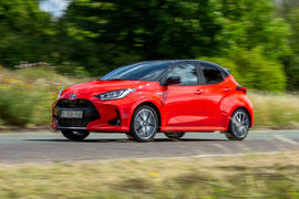 Toyota Yaris hybrid 2020 UK first drive review - hero front