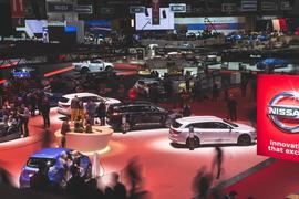 Geneva motor show - show floor