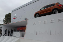 The SEAT exterior stand at the Paris Motor Show