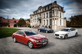 BMW 5 Series Jaguar XF Mercedes-Benz E-Class