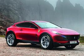 Ferrari 'Purosangue' SUV, as imagined by Autocar