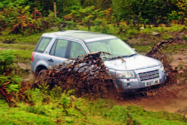 Land Rover Freelander driving off-road
