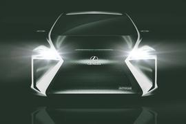 Lexus electric hatch front end render