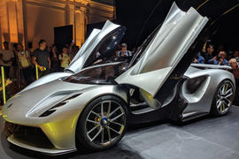 Lotus Evija official reveal - doors up