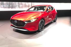 Mazda 3 2018 official reveal - LA show floor static front