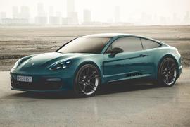 2020 Porsche Panamera two-door coupe render