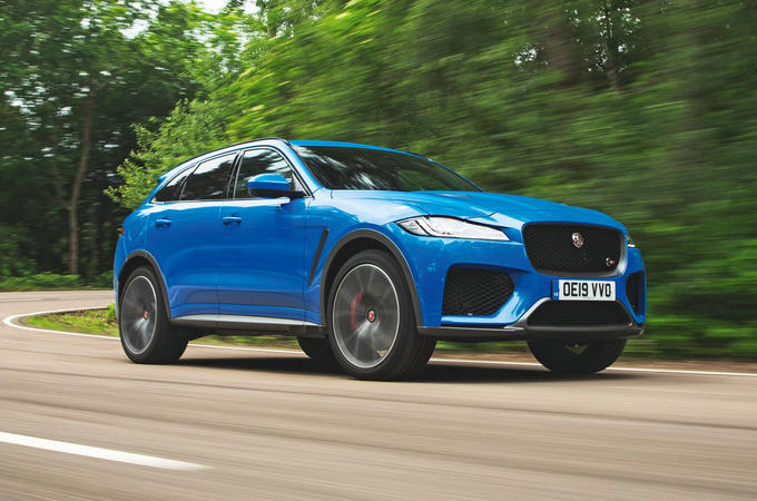 Jaguar F-Pace SVR 2019 road test review - hero front