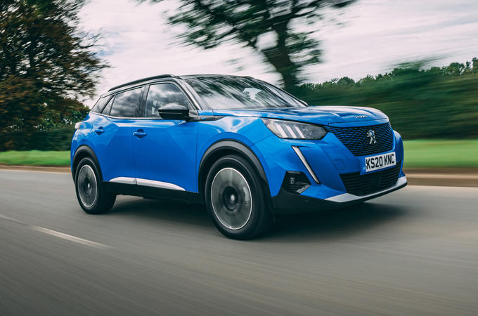 Peugeot e-2008 2020 road test review - hero front