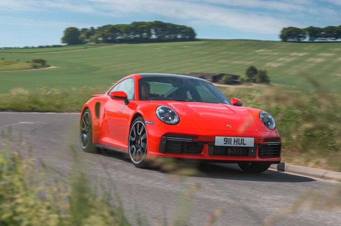 Porsche 911 Turbo S 2020 road test review - hero front