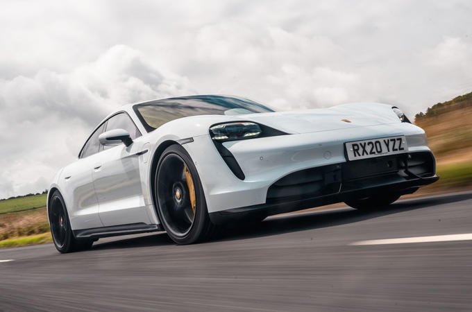 Porsche Taycan 2020 road test review - hero front